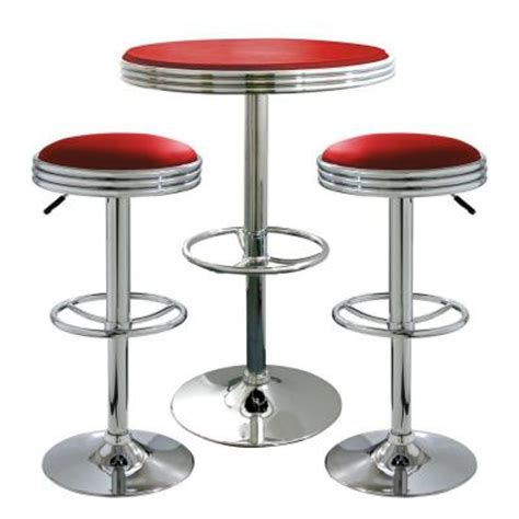 Soda Shop Bar Stools by Amerihome Retro Style Soda Shop Bistro Bar Stool And Table Set In 3 Set Bsset26