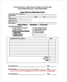 landscaping estimate template lawn care estimate template free lawn xcyyxh