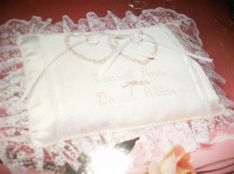 counted cross stitch kit keepsake ring pillow titan