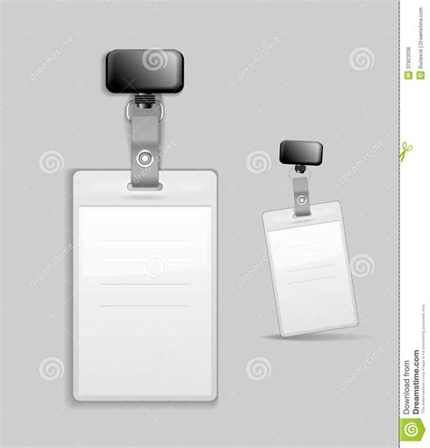 id card vector template blank identification card badge id template stock vector