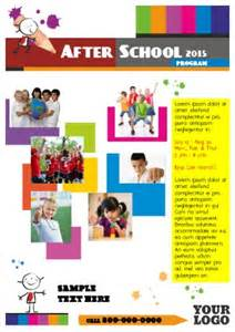 After School Program Template after school program flyer templates pageprodigy print
