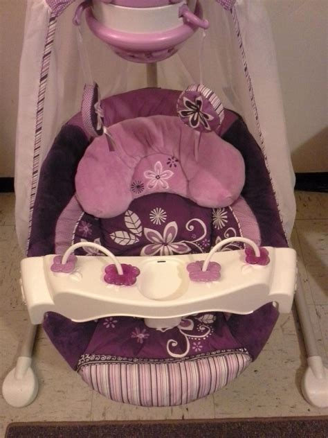 fisher price cradle swing purple fisher price starlight cradle n swing sugar plum fisher