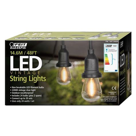 feit 48 ft string lights feit 48 ft string lights 100 images feit electric 48