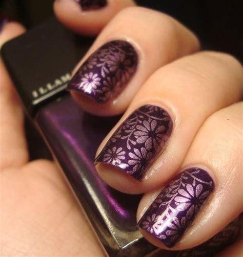 purple flower nails nail colors purple flower nail designs purple nail art