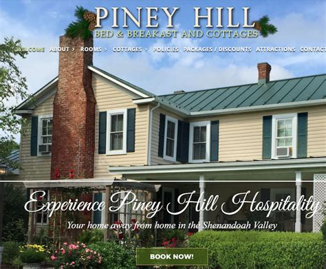piney hill bed breakfast pineyhillbandb com luray va bed breakfast cottage