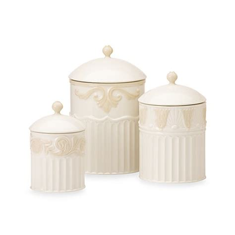 bed bath and beyond canisters lenox 174 butler s pantry 174 3 piece canister set bed bath