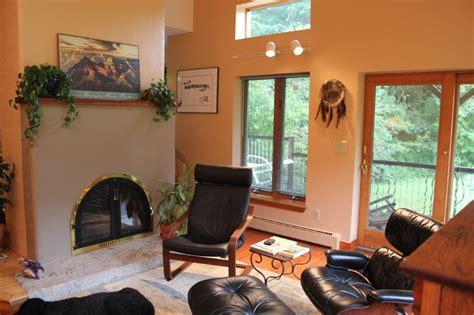 southwestern style living room southwestern living room eclectic living room portland maine by insite contemplative design