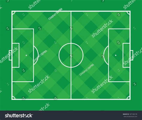 pitch pattern en español square plaid pattern soccer field stock vector 187108178