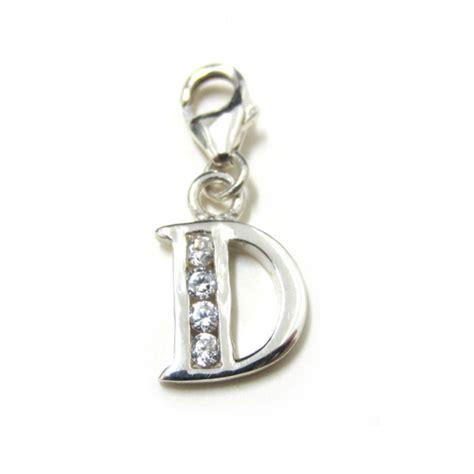 quot d quot alphabet letter initial sterling silver charm bracelet