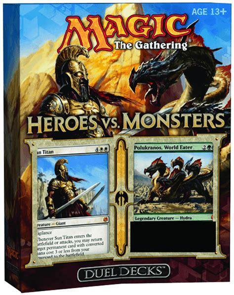 mtg duel decks previewsworld mtg ccg duel decks heroes vs monsters