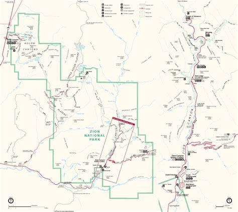 zion park map zion national park usa map toursmaps