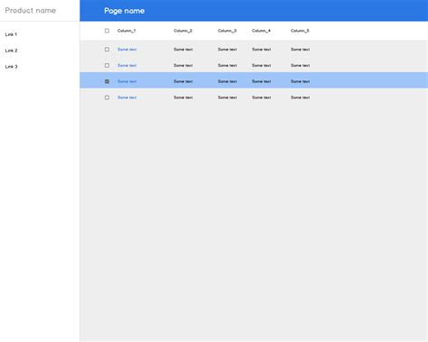 material design list header actions material design data tables user experience