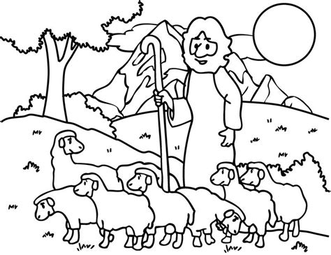 coloring page the lost sheep the good shepherd the lost sheep coloring pages for kids