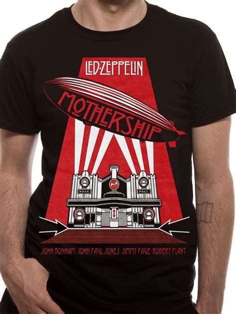 Tshirt Led Zepplin Black B C led zeppelin mothership t shirt tm shop