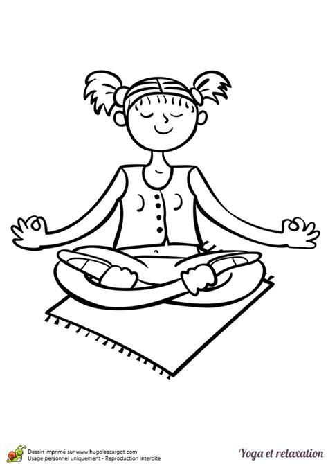 Coloriage D Un Exercice De Relaxation Et De Yoga Le Lotus