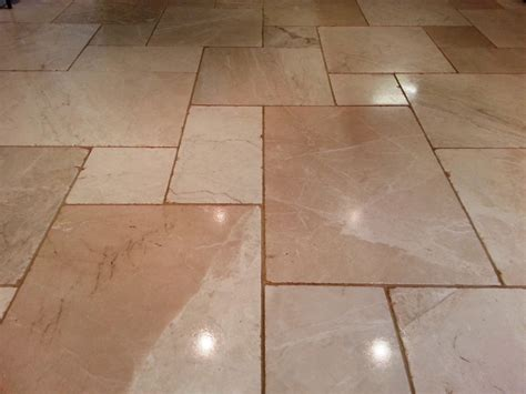 limestone tiled floor cleaned and polished in hastings