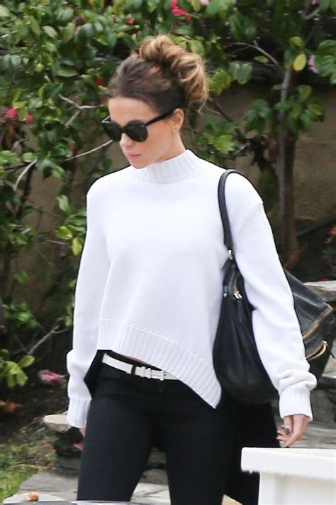 kate beckinsale casual style heading   super bowl