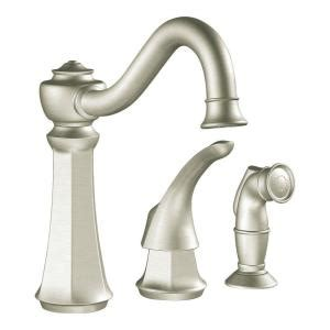 moen kitchen faucets at home depot moen vestige 1 handle kitchen faucet in classic stainless