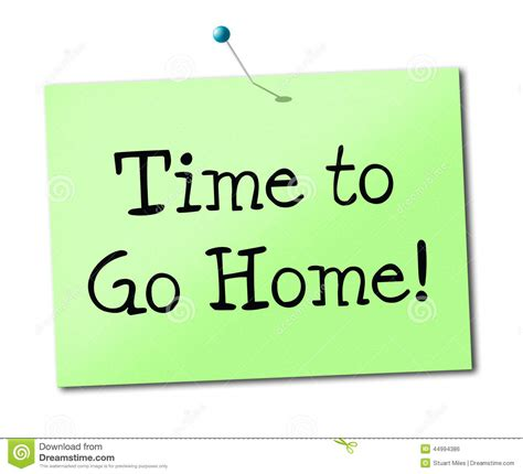 Time To Home by Time Go Home Shows See You Soon And Advertisement Stock