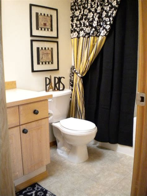 black white and yellow bathroom yellow and black