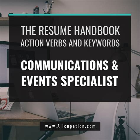 Resume Verbs And Keywords The Resume Handbook Allcupation Maximize Your Career Potential