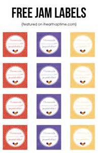 Free Jam Label Templates by Strawberry Jam Free Labels I Nap Time