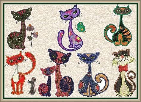 Applique Cat Quilt Patterns by Applique Patterns Applique Cats 16 50 Allstitch