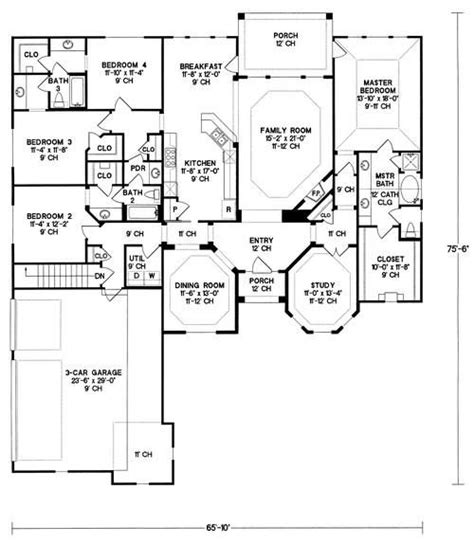 floor plans with garage on side house plan 402 01027 ranch plan 2 679 square feet 4