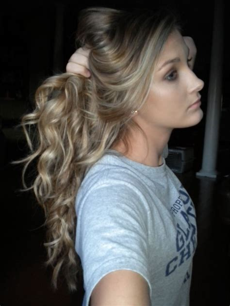Curly Dirty Blonde Hair | curly blonde hair prom homecoming formal pinterest