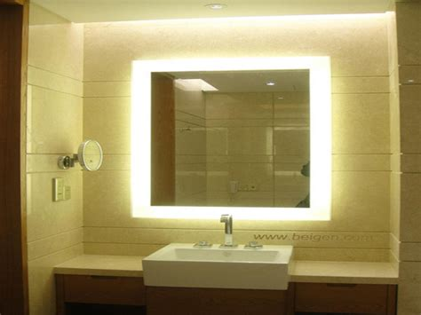 lighted wall mirrors for bathrooms bathroom mirror light backlit mirrors bellagio backlit