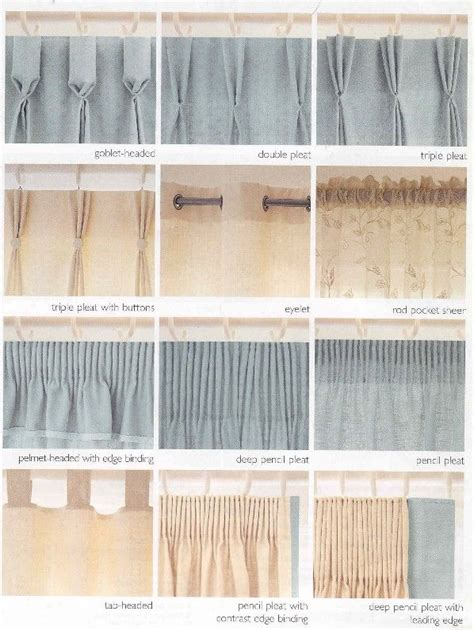 types of curtains 15 best images about curtain headings on pinterest