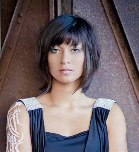 i like this cut with short bangs and longer lawyers right short bob haircut 2016 short bob haircut with bangs