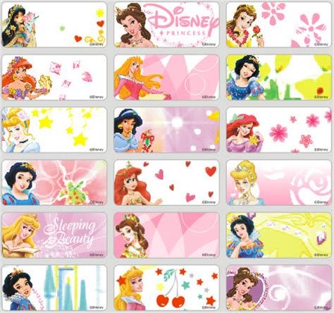 Label Stiker Nama Water Proof Size M Princess name stickers for daycare kamos sticker