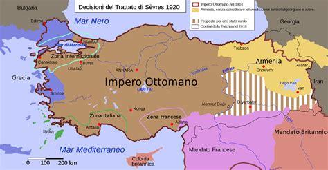 impero ottomano cartina medio oriente