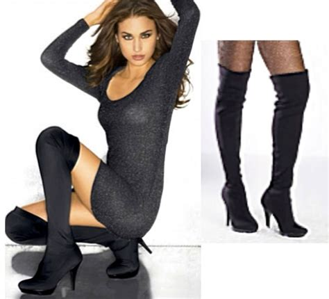 Fredericks Of Hollywood Gift Card - fredericks of hollywood sexy black stretch nylon thigh high boot above knee heel ebay