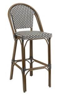 Rattan Bistro Bar Stools by Rattan Bistro Bar Stools Black White With Walnut Frame