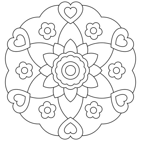 best color for kids free printable mandalas for kids best coloring pages for