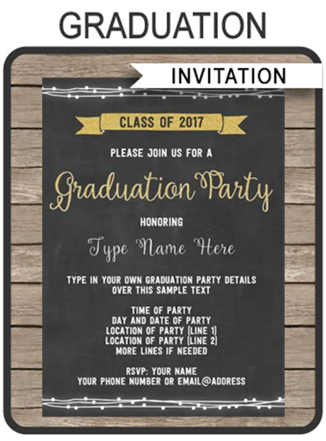 Graduation Party Invitations Printable High School Graduation Invites Graduation Invitations 2017 Templates