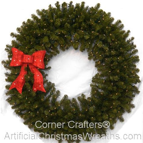 4 foot deluxe prelit christmas wreath