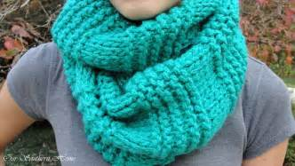 Knit Infinity Scarf Patterns Easy Knitted Infinity Scarf Our Southern Home