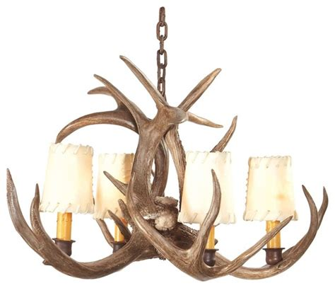 Small Antler Chandelier Rustic Lodge Small Coues Deer Antler Chandelier Traditional Chandeliers By Ls Plus