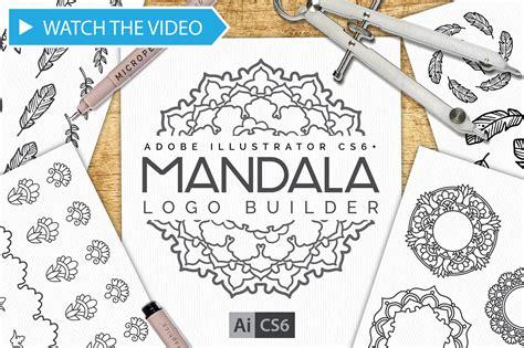 pattern maker illustrator action mandala logo creator kit cs6 actions creative market
