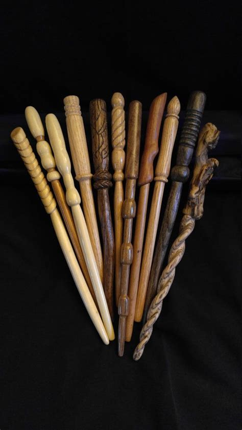Handmade Wooden Wands - custom wood wand made to your specs wizard wand real