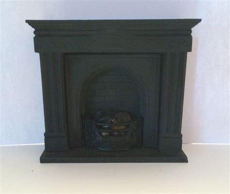 black doll house black arched fireplace rushall dolls house