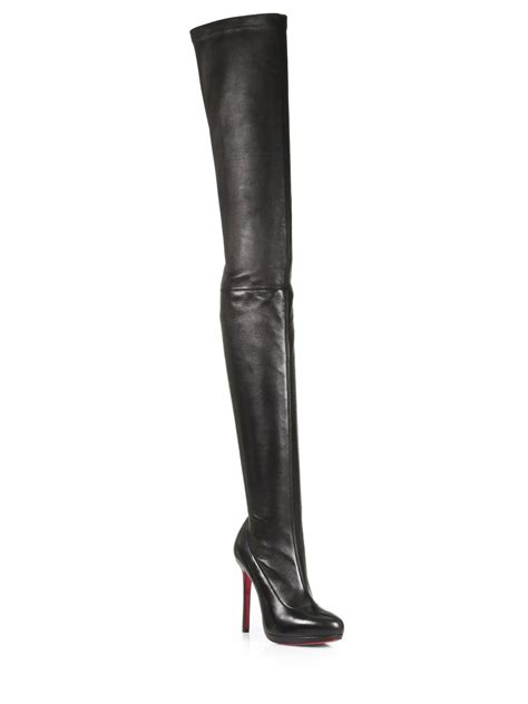 christian louboutin louise stretch leather thigh high