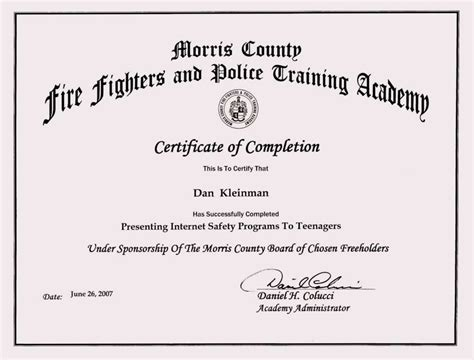 Training Certificate Format Doc Planner Template Free Course Completion Certificate Template