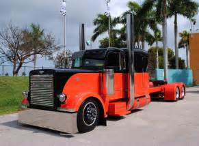 Big Truck Custom Wheels Custom Harley Davidson Peterbilt Big Rig Truck Orange