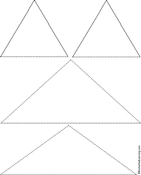 tree tracing cutting template enchantedlearning triangles 2 tracing cutting template enchantedlearning