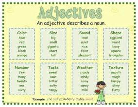 adjectives mrs warner s 4th grade classroom