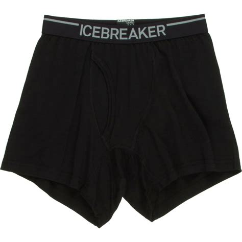Fly Briefprobe Icebreaker Bodyfit 200 Oasis Boxer With Fly Mens Black L